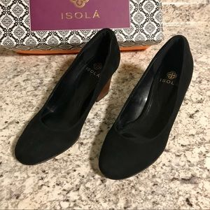 5d83d2fa4b6a Isola Shoes - LAST CHANCE   Isola  Emmalee  Black Suede Pump